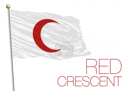 Red crescent flag