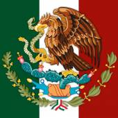 mexico coat of arm and flag