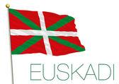 euskadi basque country flag isolated on the white background