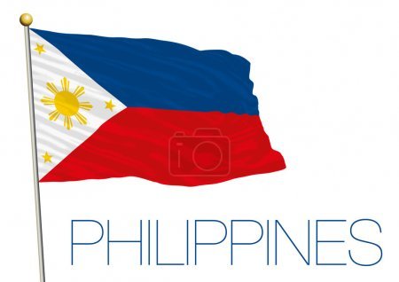 philippines flag isolated on the white background