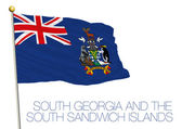 south georgia and south sandwich islands flag isolated on the white background