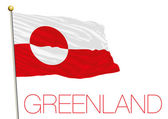 greenland flag isolated on the white background
