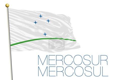 Vector file, illustration of mercosur flag...