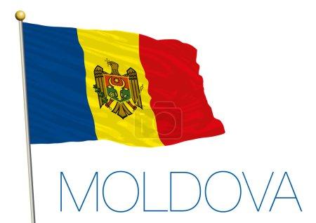 moldova flag isolated on the white background