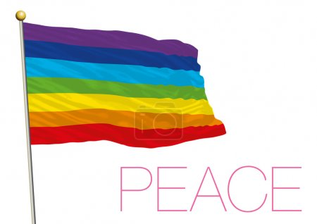 Illustration for Vector file, illustration peace movement flag - Royalty Free Image