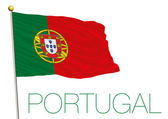 portugal flag isolated on the white background