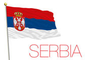 serbia flag isolated on the white background
