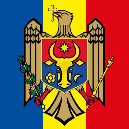 moldova coat of arm and flag