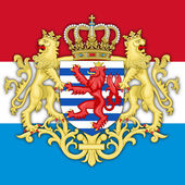 luxembourg coat of arms and flag