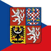czech republic coat of arm and flag