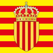 catalonia coat of arms and flag vector file
