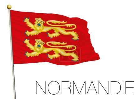 normandie regional flag, france