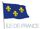 Vector file illustration ile de france regional flag