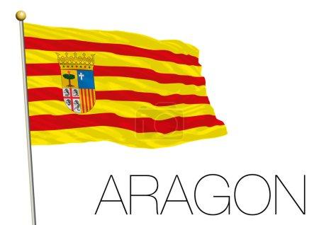 Aragon regional flag, autonomus community, spain