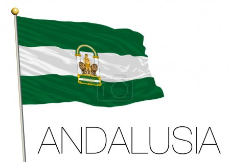 Andalusia regional flag, autonomus community, spain
