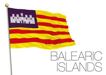 Balearic islands regional flag, autonomous community of Spain