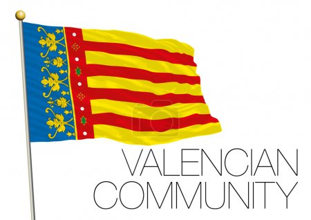 Valencian Community regional flag, autonomous community of Spain