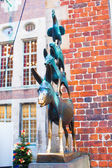 The Statue of Town Musicians of Bremen, Germany