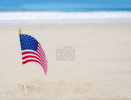Patriotic USA background with American flag
