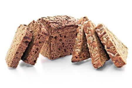 Photo pour Produits de boulangerie frais isolés sur fond blanc . - image libre de droit