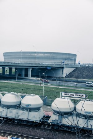 Stadium, modern architecture in Wroclaw Poland