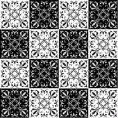 Hand drawing seamless  pattern for tile in black and white colors Italian majolica style Vector illustration The best for your design textiles posters