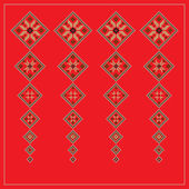 Set of Ethnic ornament pattern in different colors Vector illustration