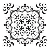 Hand drawing decorative tile pattern Italian majolica style