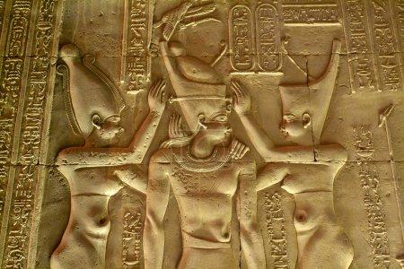 Photo pour Egypte, Haute Egypte, Vallée du Nil, temple Kom Ombo dédié au dieu Sobek le crocodile - image libre de droit