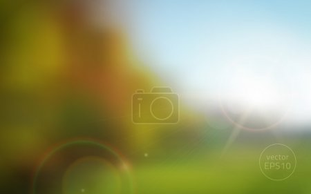 Illustration for Abstracr blurred autumn sunset vector background. layered. - Royalty Free Image
