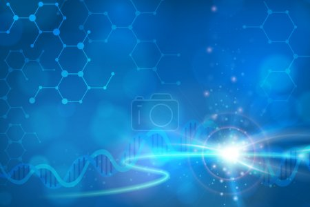 Abstract biotechnology DNA vector background