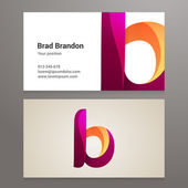 Modern letter B twisted Business card template