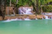 Waterfall in rain forest (Tad Sae Waterfalls at Luang prabang, L