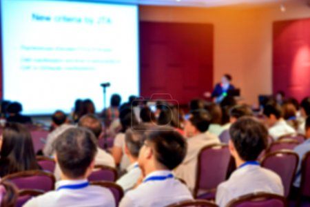Blur of business Conference and Presentation in the conference h