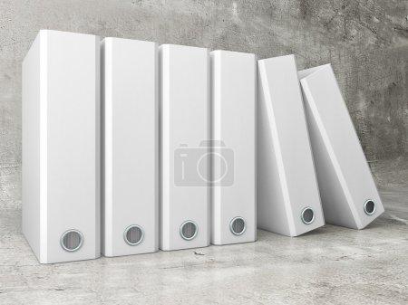 White office folder on concrete background