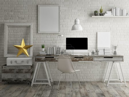 Loft workspace background
