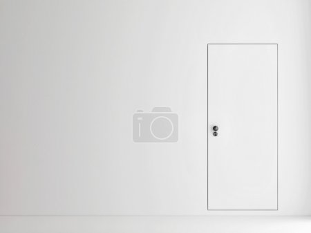 Minimalism door concept, 3d illustration