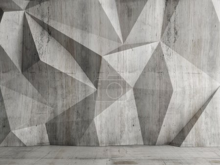 Photo for Abstract concrete wall background, 3d illustration - Royalty Free Image