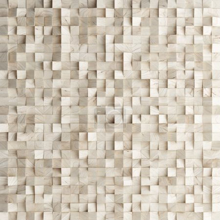 Photo for Abstract texture from wooden cubes, 3d render - Royalty Free Image