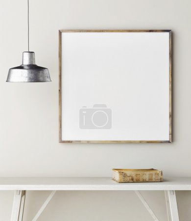 Concept mock up frame, minimalism design,3d render