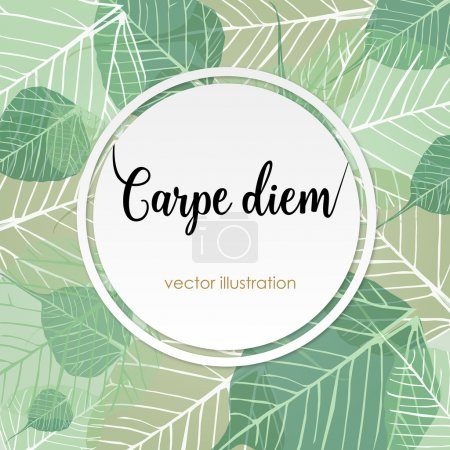 "Photo for Carpe diem. Latin aphorism ""Seize the day"". Vector organic style card - Royalty Free Image"