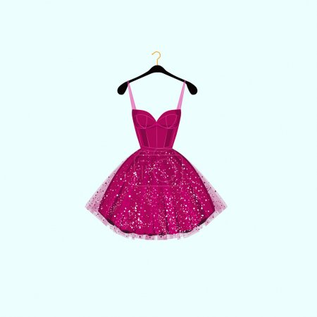 Fancy party dress. Vector illustration...