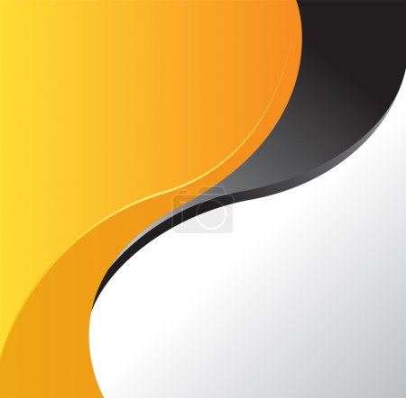 Illustration pour Magazine ou brochure, design vectoriel lignes et cercles de courbes d'ondes lisses. Contexte abstrait. - image libre de droit