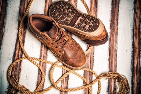 A new collection of men's shoes