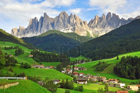Photo for Italian landscape. Funes valley, Dolomites - Royalty Free Image