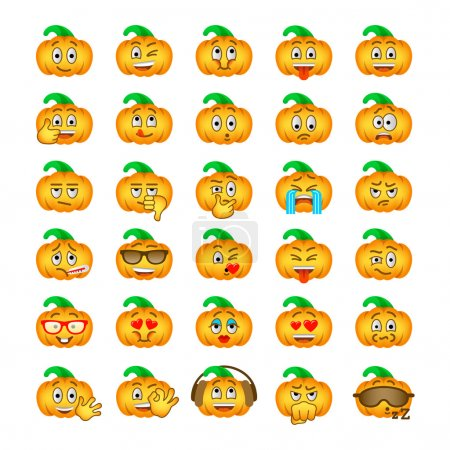Halloween pumpkin emoji emoticons