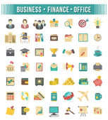 Flat Business and Financial Icons Set