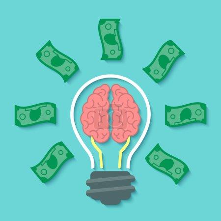 Modern flat business vector concept of money idea ...