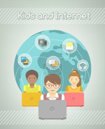 Kids on Internet World Over
