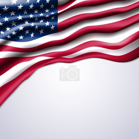 american flag realistic vector
